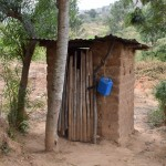 The Water Project: Ilinge Community B -  Rose Paul Latrine And Tippy Tap