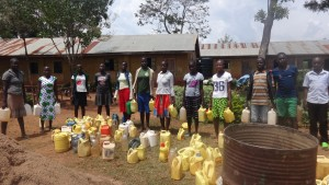 The Water Project:  Community Members Fetching Water For Construction