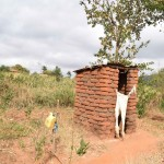 The Water Project: Muselele Community A -  Annah Muia Latrine