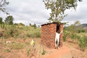 The Water Project : 8-kenya4769-annah-muia-latrine