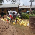 The Water Project: Emukangu Primary School, Butere -  Construction Water