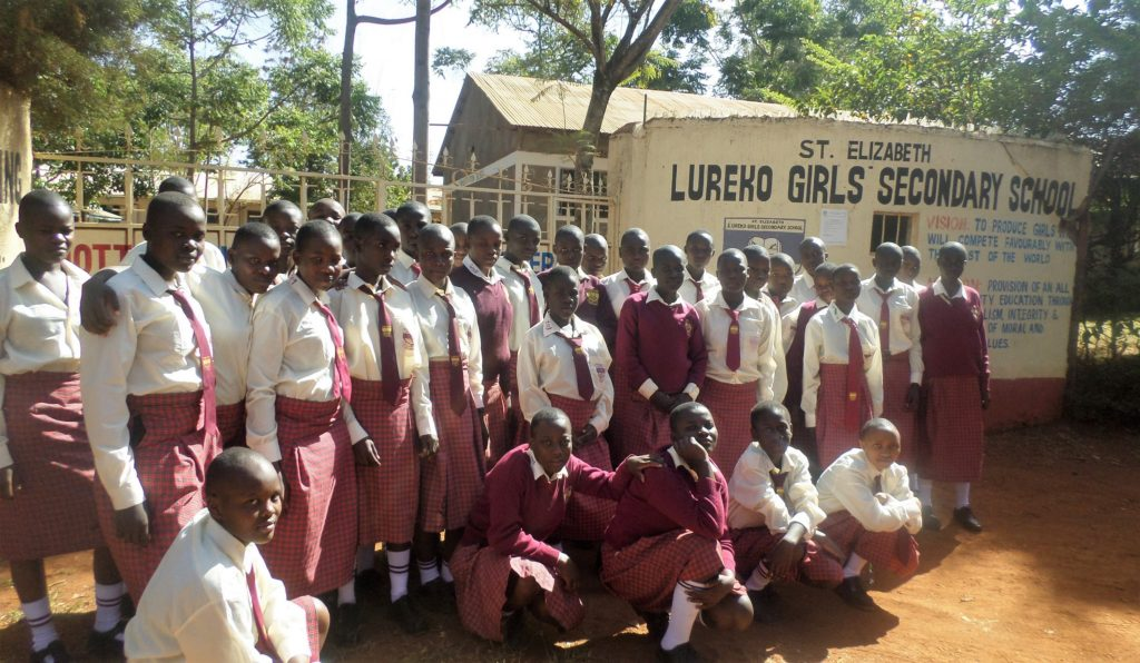 The Water Project : 1-kenya4690-students-at-gate