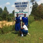 The Water Project: Matete Girls High School -  School Sign