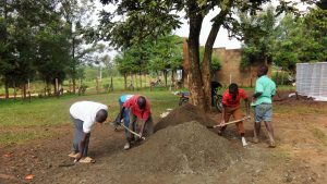 The Water Project : 10-kenya4680-community-members-helping-mix-cement