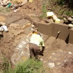 The Water Project: Handidi Community, Matunda Spring -  Spring Protection Construction