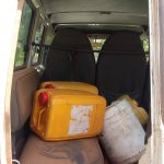 The Water Project: Eshitowa Community -  We Were Thankful For Our Vehicle To Help Us Get To The Spring