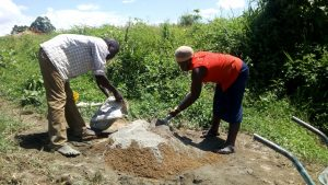 The Water Project : 10-kenya4848-mixing-concrete