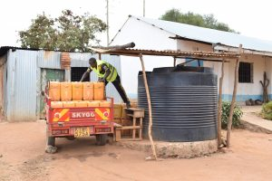 The Water Project:  Plastic Tank And Water Delivery
