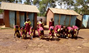 The Water Project:  Girls Washing Hands At Latrines