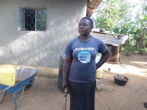 The Water Project:  Mrs Afula At Her Home