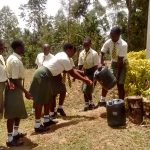 The Water Project: Malinya Girls Secondary School -  Hand Washing