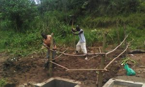 The Water Project : 12-kenya4736-community-fencing-the-spring