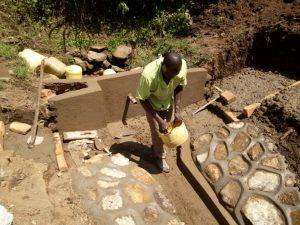 The Water Project : 12-kenya4739-spring-protection-construction