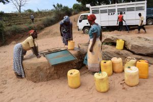 The Water Project:  Open Well In Riverbed