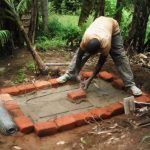 The Water Project: Lutali Community, Lukoye Spring -  Sanitation Platform Construction
