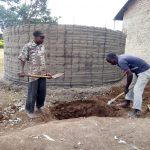 The Water Project: Bukura Primary School -  Artisans Digging A Soak Pit