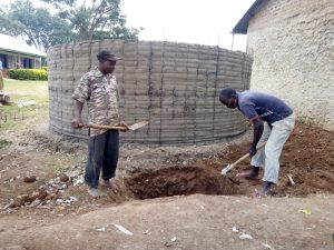 The Water Project:  Artisans Digging A Soak Pit