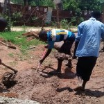 The Water Project: Friends Emanda Secondary School -  Mixing Cement