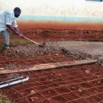 The Water Project: Friends Emanda Secondary School -  Tank Foundation