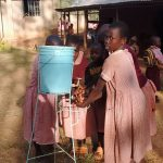 The Water Project: Irenji Primary School -  Students Demonstrating Hand Washing
