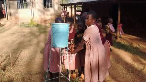 The Water Project:  Students Demonstrating Hand Washing