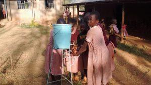 The Water Project : 15-kenya4686-students-demonstrating-hand-washing