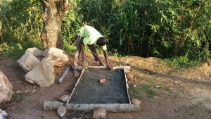 The Water Project : 15-kenya4739-sanitation-platform-construction