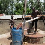The Water Project: Kitonki Community -  Bailing The Well