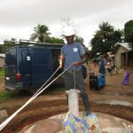 The Water Project: Conakry Dee Community A -  Measuring Water Levels