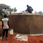 The Water Project: Evojo Secondary School -  Tank Construction