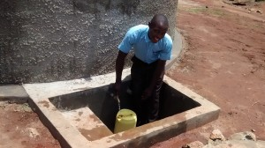 The Water Project:  Edwin Mwelesa Fetching Clean Water At The Tank