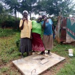 The Water Project: Timbito Community, Atechere Spring -  Sanitation Platform