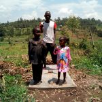 The Water Project: Mukhuyu Community, Shikhanga Spring -  Sanitation Platform