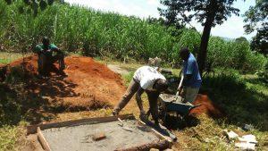 The Water Project : 19-kenya4848-sanitation-platform-construction