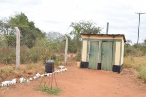 The Water Project:  Staff Latrines And Hand Washing Station