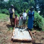 The Water Project: Lutali Community, Lukoye Spring -  Sanitation Platform