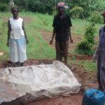 The Water Project: Lugango Community -  Sanitation Platform Construction