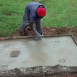 The Water Project: Lugango Community, Lugango Spring -  Sanitation Platform Construction