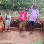 The Water Project: Lugango Community, Lugango Spring -  Sanitation Platform