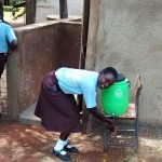 The Water Project: Friends Emanda Secondary School -  Hand Washing