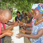 The Water Project: Conakry Dee Community A -  Making Hand Washing Stations