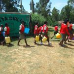 The Water Project: Malinya Girls Secondary School -  Leaving To Fetch Water