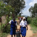 The Water Project: Matete Girls High School -  Girls Carrying Water To School