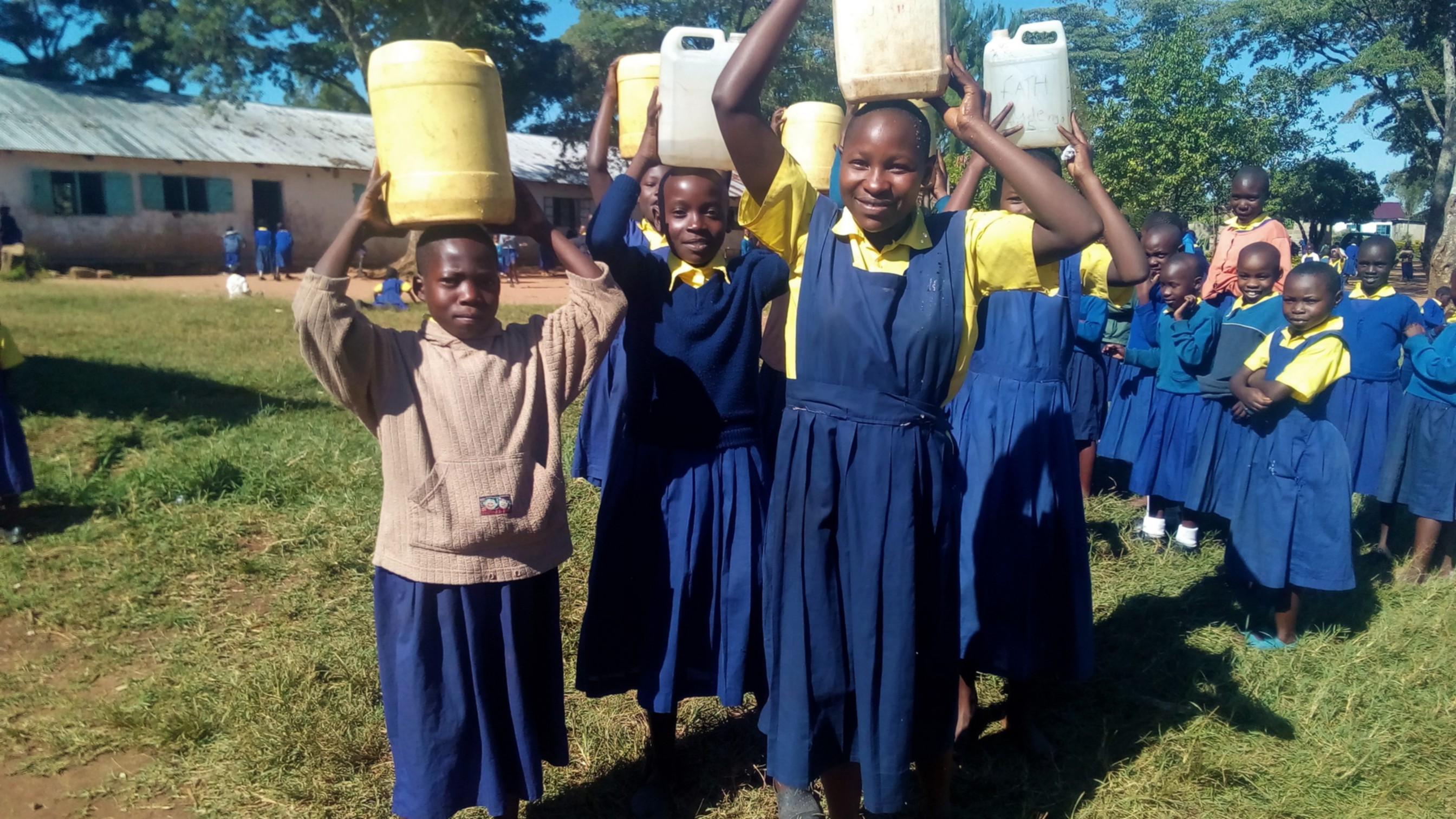 The Water Project : 7-kenya4842-carrying-water