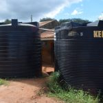 The Water Project: Kyanzasu Primary School -  Plastic Tanks