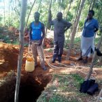 The Water Project: Bukura Primary School -  Community Members Sinking A Pit For Latrines