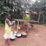 The Water Project: Rwentale-Kyamugenyi Community -  Drying Rack