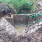 The Water Project: Lutali Community, Lukoye Spring -  Construction