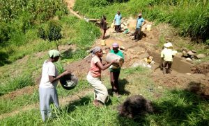 The Water Project : 9-kenya4739-spring-protection-construction