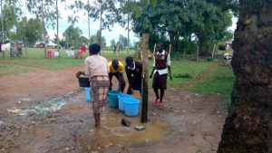 The Water Project:  Fetching Water From The Primary School